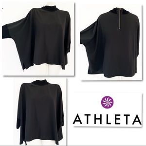 ATHLETA Dolman Oversized Back Zip Top